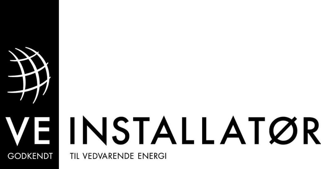 VE installatør godkendt, til vedvarende energi, logo.